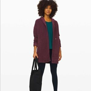 NWT Lululemon Sincerely Sherpa Wrap Coat L $168